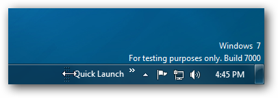 Windows 7 Quick Launch on Right