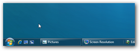 Windows 7 with the Quick Launch bar