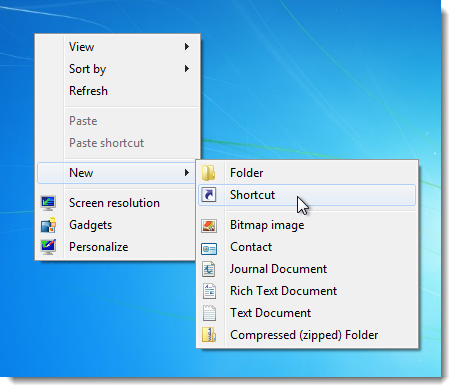 02_selecting_new_shortcut