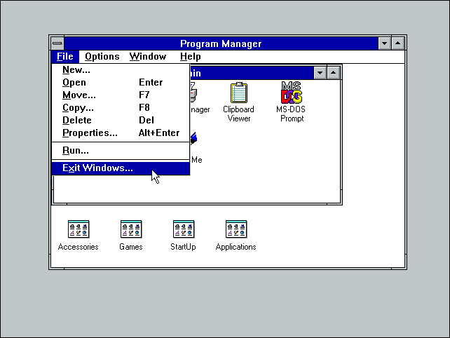 exit-windows-3.1-to-dos